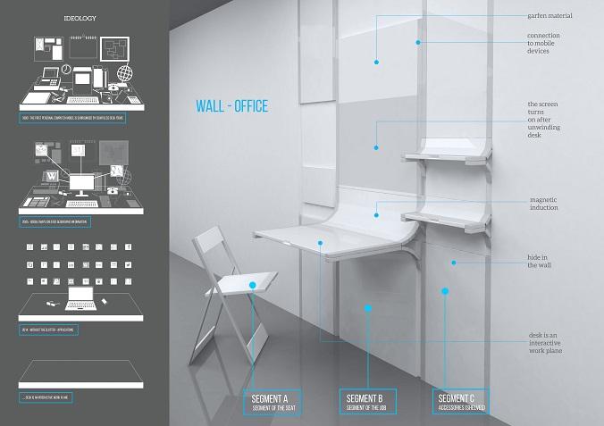 Польская студентка создала офис в стене