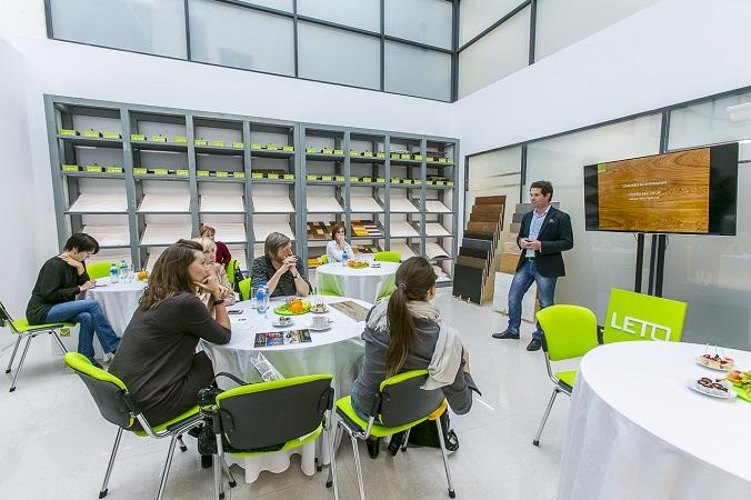 30 сентября состоялся пресс-завтрак в  новом шоу- руме компании LETO
