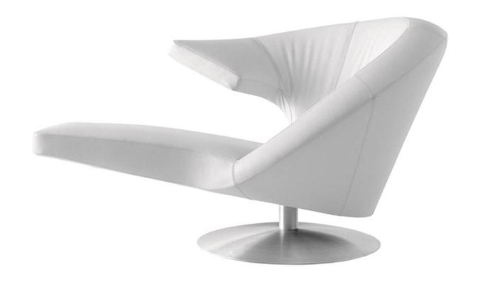 Кресло Parabolica, кожа, металл, Leolux