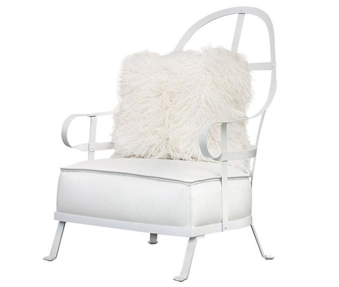 Кресло Chassis, металл, кожа, Baxter