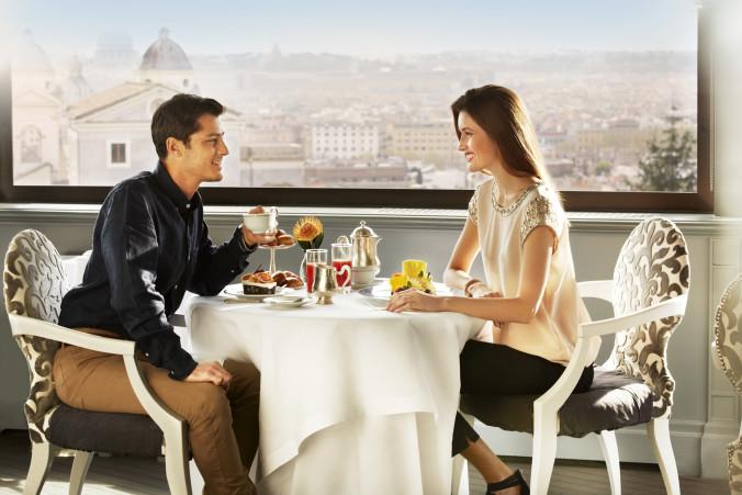 Hotel Eden-Couple at La Terrazza dell'Eden-July 2015