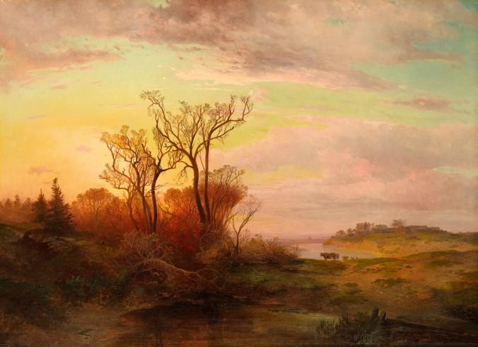 Алексей Саврасов_Сельский вид в окрестностях Москвы при закате солнца_ 1858 год - копия