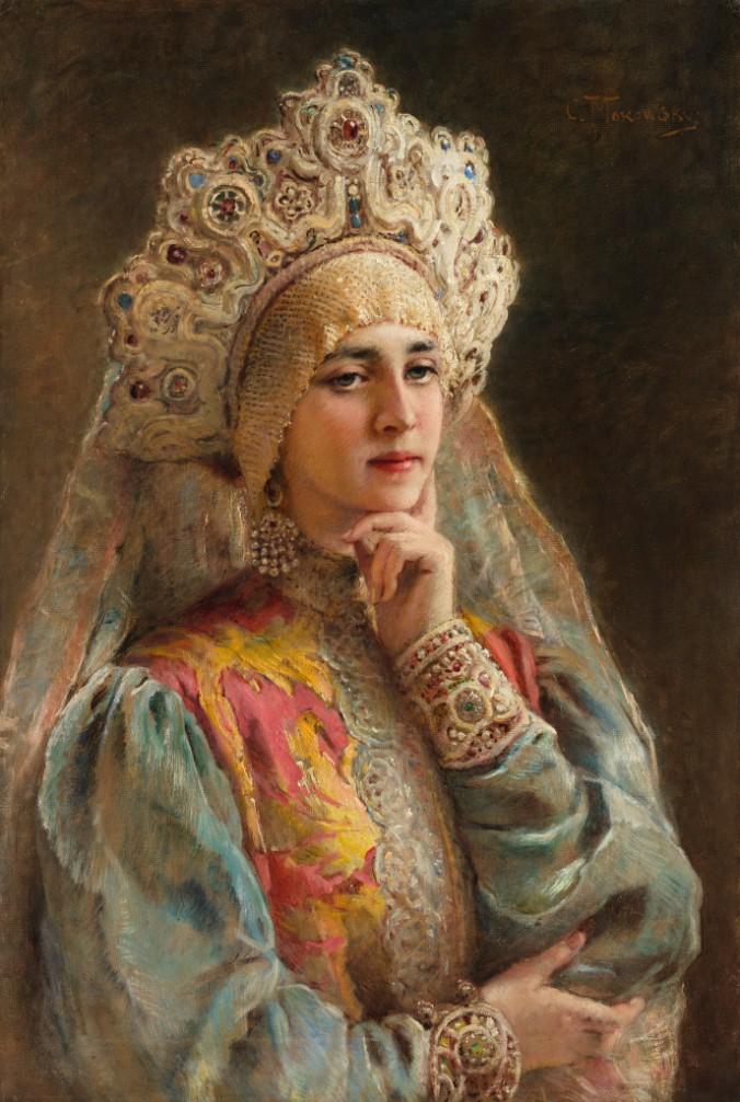Константин Маковский_Боярышня_ 1890-е годы