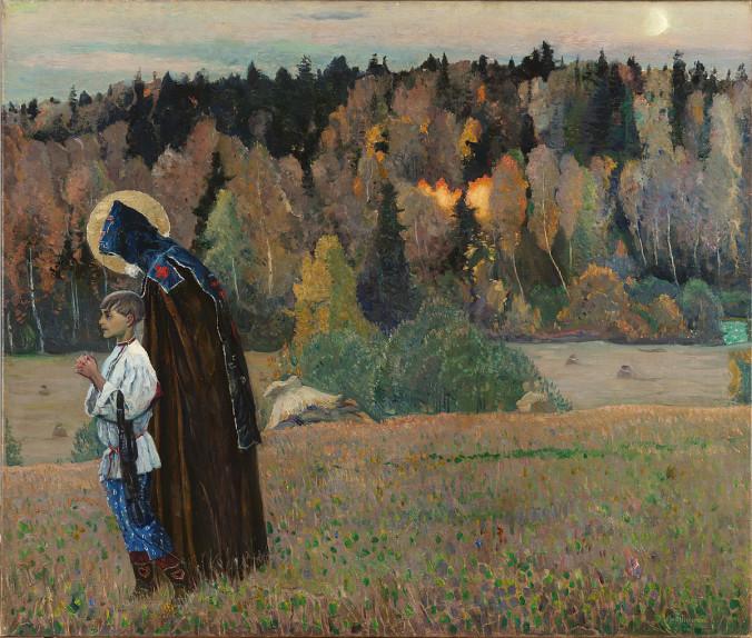 Михаил Нестеров_ Явление отроку Варфоломею, часть II_ 1917 год.