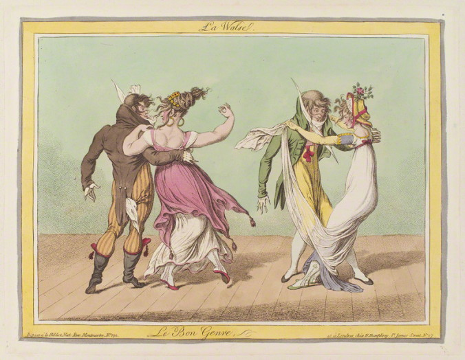 NPG D12936; 'La walse' by James Gillray, published by  Hannah Humphrey