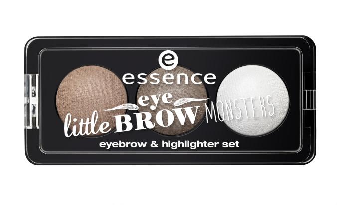 essence little eyebrow monsters eyebrow & highlighter set 01