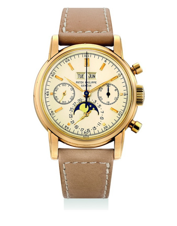 HK$19,720,000_Patek Philippe.possibly unique pink gold perpetual calendar chronograph with moonphases_ref2499