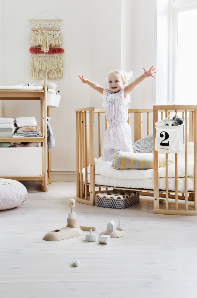 Sleepi nursery Bed Natural in setting