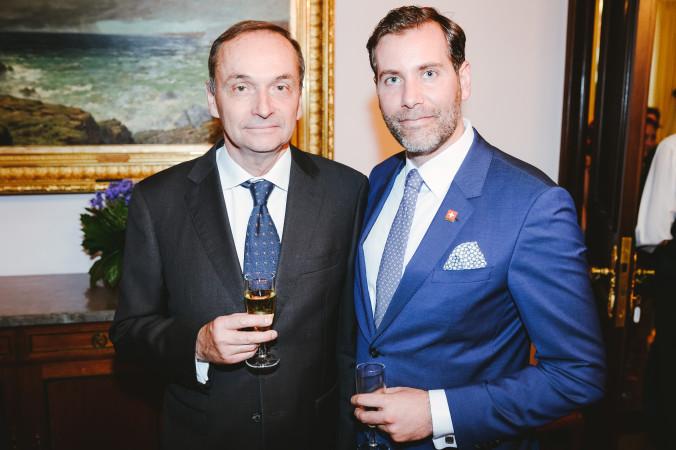 Его Превосходительство Пьер Хельг, посол Швейцарии и Марк Шойрер