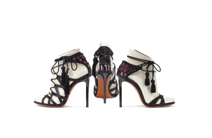 Red carpet sandals
