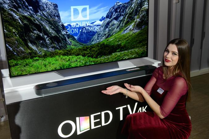 Саундбар LG SJ9 поддерживает технологию Dolby Atmos®