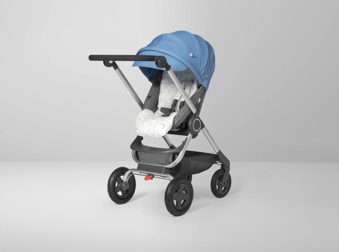 Stokke Scoot Black Melange Blue Newborn Insert Confetti Blue 160830-46
