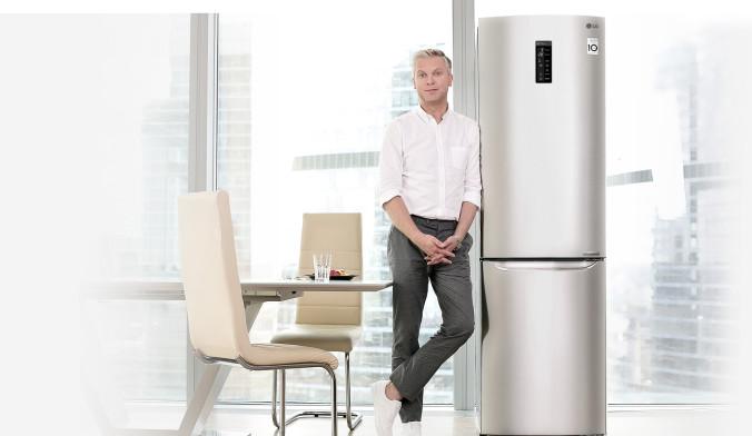Сергей Светлаков и холодильник LG с инверторным линейным компрессором