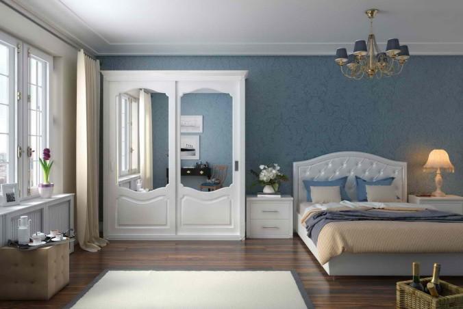 модерн кровать(Табаска)Fusion white и тумба