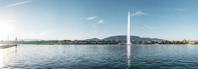 Switzerland Cities: Geneve, Jet d'eau