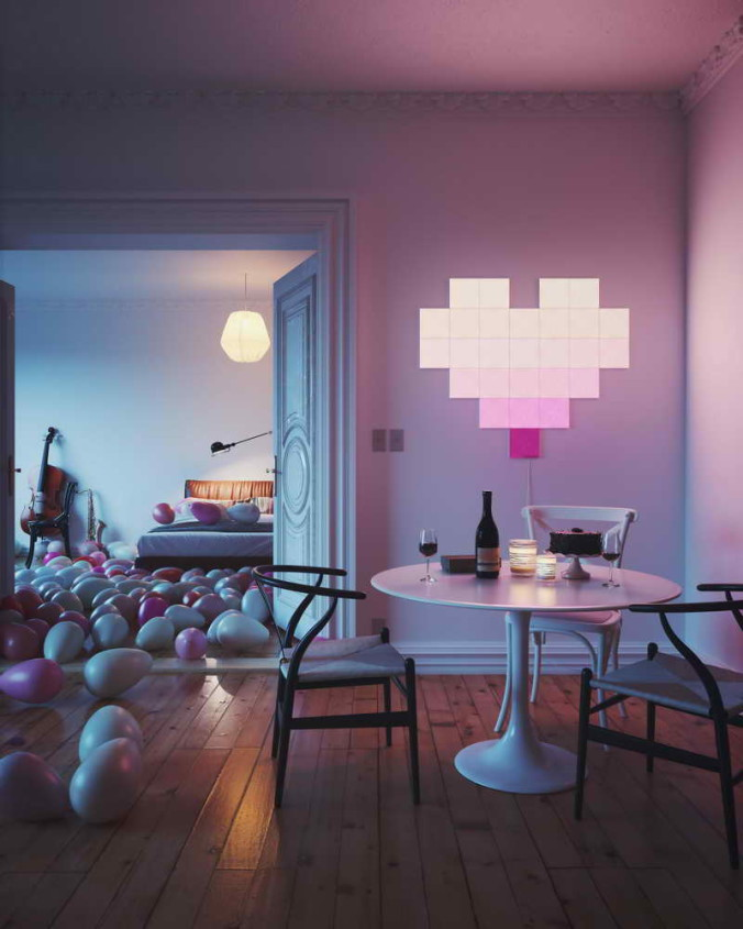 Nanoleaf Canvas - Valentines